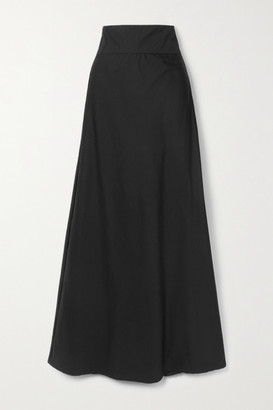 Kalita Inky Cotton-poplin Maxi Skirt - Black