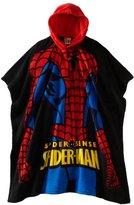 AME Sleepwear Boys Spiderman Hooded Poncho Top