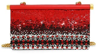 Valentino Garavani Carry Secrets Beaded Leather Clutch