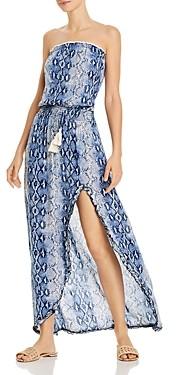 Surf.Gypsy Snakeskin Print Maxi Dress Swim Cover-Up