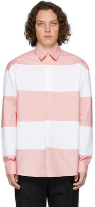 J.W.Anderson White and Pink Oversized Panelled Shirt