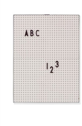Design Letters Decorative Message Board Grey (Letters and Numbers Sold Separately)
