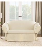 Sure Fit Cotton Canvas One Piece Loveseat Slipcover