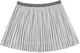 Mayoral Metallic Plissé Skirt, Silver, Size 8-14