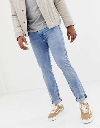 Levi's 510 skinny fit standard rise jeans in ross light warp light wash-Blue