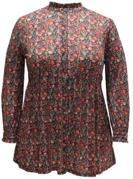 Style&Co. Style & Co Retro Floral-Print Tunic, Created for Macy's