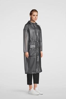 Stutterheim Ranarp Semi Transparent Raincoat Smoke - XXS