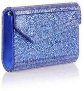 Jimmy Choo Candy blue glitter clutch