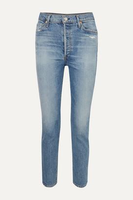 Citizens of Humanity Olivia High-rise Slim-leg Jeans - Light denim