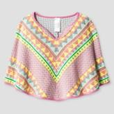 Cat & Jack Girls' Poncho Sweater Cat & Jack - Pink