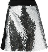 Thierry Mugler sequinned front slit skirt - women - Polyamide/Polyester/Viscose - 38