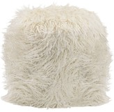 The Well Appointed House White Faux Fur Ottoman-ON BACKORDER UNTIL JULY 2016