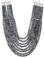 Saks Fifth Avenue Layered and Faceted Bead Statement Necklace