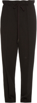 Helmut Lang Pinstriped dropped-crotch trousers