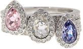 Swarovski Christie Crystal Detail Stacking Ring - Set of 3