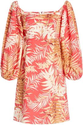 Cara Montauk Printed Cotton-Poplin Mini Dress