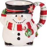 Fitz & Floyd Top Hat Frosty Snowman Character Mug