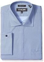 Stacy Adams Men's Big and Tall Dot Print Classic Fit Dress Shirt