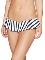 Milly Women's Stripe Swim Sirolo Ruffle Bikini Bottom