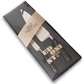 Rousselon Edonist 10 cm Paring 20 cm Cook's Knife Duo Box, Stainless Steel, Black, 20 x 30 x 30 cm