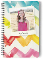 Minted Watercolor Chevron Day Planner, Notebook, or Address Book