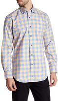 David Donahue Woven Pattern Regular Fit Shirt