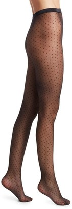 Fogal Pullon Pois Swiss Dot Tights