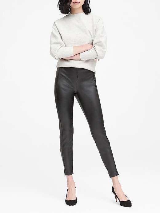 Banana Republic Petite Devon Legging-Fit Vegan Leather Ankle Pant