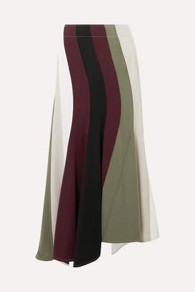 J.W.Anderson Paneled Asymmetric Striped Cady Skirt - White