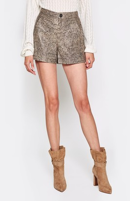 Joie Abreal Leather Shorts