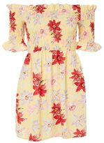 Topshop Lemon floral bardot dress