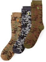 Ralph Lauren Camo Crew Sock 3-Pack
