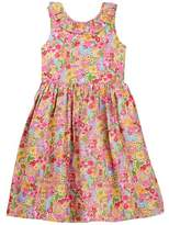 Oscar de la Renta Floral V-Back Dress (Little Girls & Big Girls)