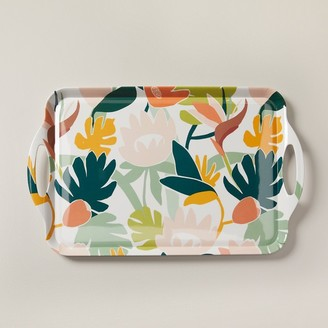 Indigo Tropical Melamine Rectangular Tray