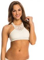 Jessica Simpson Swimwear Flower Power High Neck Lace Bra Bikini Top 8140112
