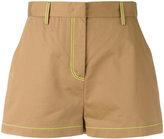 MSGM stitched detail shorts