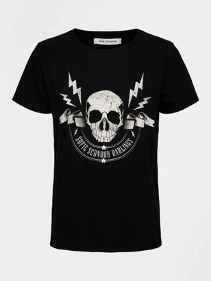 Sofie Schnoor Black Skull Tee Shirt - XS | black - Black/Black