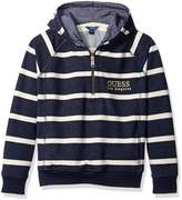 GUESS Big Boys' Long Sleeve Hooded Fleece Popover