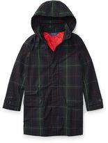 Ralph Lauren 7-16 Plaid Cotton Raincoat
