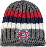 Reebok Men's Gray Montreal Canadiens Team Logo Uncuffed Knit Beanie
