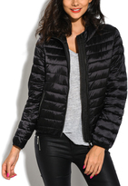 Black Down Hood Puffer Jacket