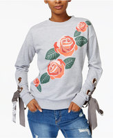 MinkPink Once Upon A Time Lace-Up-Detail Sweatshirt