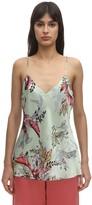 Luna Di Seta Floral Print Silk Camisole