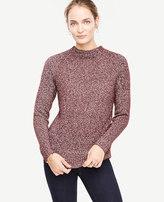 Ann Taylor Mock Neck Novelty Sweater