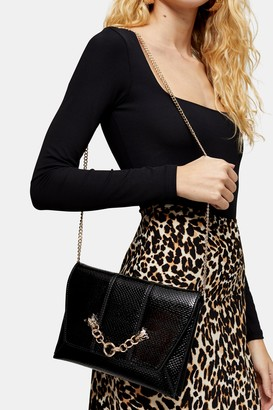 Topshop PANTHER Chain Clutch Bag