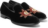Alexander Mcqueen - Embellished Velvet Slippers
