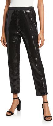 Joan Vass Sequin Ankle Pants