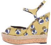 Gucci Printed Espadrille Wedges