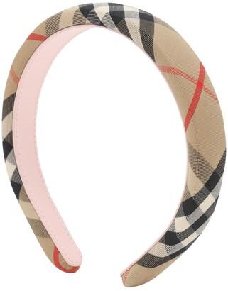 Burberry Check Cotton Blend Headband