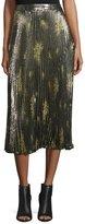 Suno Pleated Skirt Metallic Olive